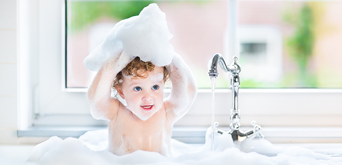 When can I start using regular soap on my baby?